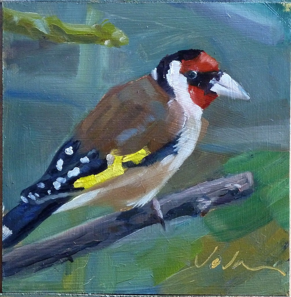 painting of Goldfinch