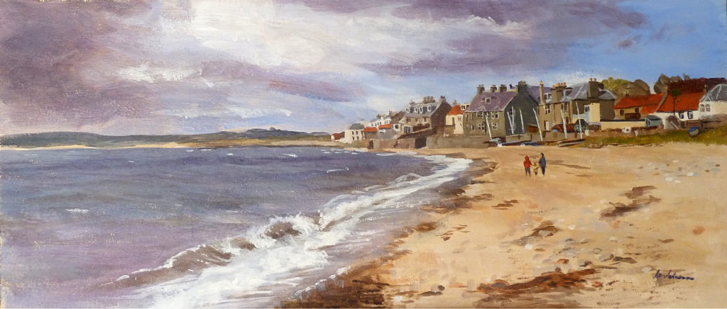 "Lower Largo, Acrylic on Board, 9"" x 18"" (approx)"