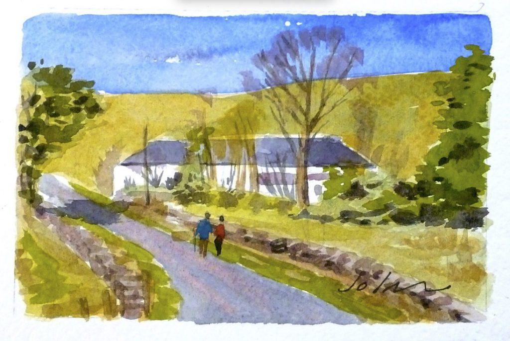 painting of Gateside Farm